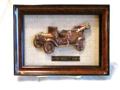 Vintage Ford 3D Picture, 1908 Ford Car Picture Wall Hanging, Car Collector, Gift for Him, laslovelies