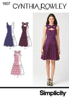 (Possibly Pattern B) Simplicity Creative Group - Misses' Dress Cynthia Rowley Collection