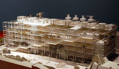 GeorgesPompidou, Paris, Scalemodel, RichardRogers