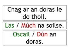 A number of signs/labels in Irish (Gaeilge) to help your students build their vocabulary. Word Reading, Reading Centers, Gaelic Words, Welsh Language, Sign Language Phrases, Scottish Gaelic, Classroom Signs, European Languages, Minions Quotes