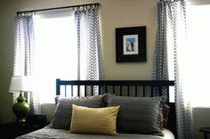Curtains From a Duvet Tutorial