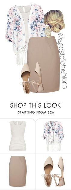 """Apostolic Fashions #1688"" by apostolicfashions ❤ liked on Polyvore featuring L.K.Bennett, Gap and Anne Klein"