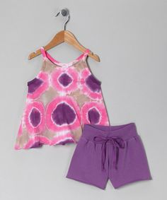 Take a look at this Purple & Pink Cassie Tunic & Shorts - Toddler & Girls by Out of Control on #zulily today!