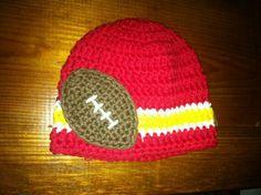 Kansas City Chiefs beannie crochet