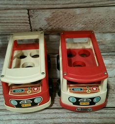 Vintage Fisher Price FP 1969 Little People Mini Bus 141 LOT OF 2 in Toys & Hobbies, Preschool Toys & Pretend Play, Fisher-Price | eBay