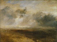 Breakers on a Flat Beach by Joseph Mallord William Turner Tate. Date painted: c.1835-40 Oil on canvas