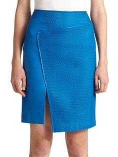 Reed Krakoff Asymmetrical Honeycomb Skirt | Clothing
