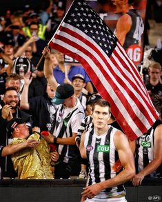 """Michael Willson on Instagram: """"Mason Cox and the Star-Spangled Banner 🇺🇸 #AFLTigersPies"""" Collingwood Football Club, Australian Football, Star Spangled Banner, Cox And Cox, My Boys, Sport, Room, Instagram, Fashion"""