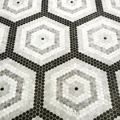 #Hexagon #mosaic #tiles creating #hexagons: a geometrically cool #tile #design discovered at #cersaie2015 by @thetilepalette! #grey #blackandwhite goodness / #tiletuesday #floor #flooring #floors #interior #interiors #interiordesign #interiordesigner #idcdesigners #hex #mosaics #tiled #tiling #tilework #tileaddiction #tilelove #luxury by tiletuesday