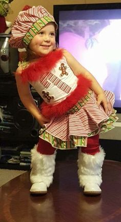 National Pageant Christmas Casual Wear Winner. Facebook: Paulina's Pageant Designs