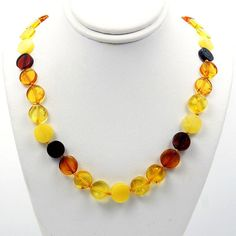 Healing Natural Multicolor Baltic Amber Beaded by TheSilverPlaza