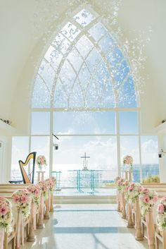 Wedding ceremony with ocean view | 10 Things to Do, See, and Eat on a Honeymoon Trip in Okinawa | http://www.bridestory.com/blog/10-things-to-do-see-and-eat-on-a-honeymoon-trip-in-okinawa