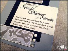 Inviite By Viizro, Bridal Shower Invitation, Bridal Shower Invite, Navy, www.InviiteByViizro.com, $4.50 ea