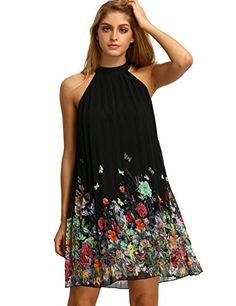 A sleeveless floral chiffon dress that's the perfect balance between casual and classy.