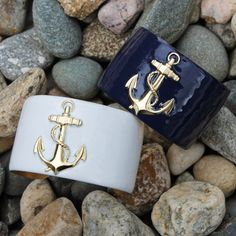 We couldn& help ourselves! Another sneak peak! We are CRAZY about our exclusive Anchor Obsession Collection, Anchor Enamel Cuff Bracelets! 4 colors to choose from! Jewelry Accessories, Fashion Accessories, Fashion Jewelry, The Bling Ring, Monogram Jewelry, Nautical Fashion, Cuff Bracelets, Anchor Bracelets, Jewlery