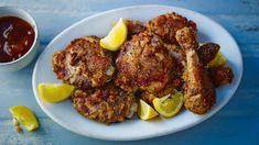 Oven-fried chilli chicken