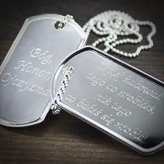 Nieśmiertelnik Soldiers, Dog Tags, Dog Tag Necklace, Army, Jewelry, Gi Joe, Jewlery, Military, Jewerly