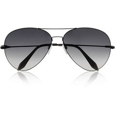 Victoria Beckham Aviator-style metal sunglasses ($500) ❤ liked on Polyvore featuring accessories, eyewear, sunglasses, glasses, sunnies, victoria beckham aviators, uv protection sunglasses, victoria beckham, aviator eyewear and aviator style glasses