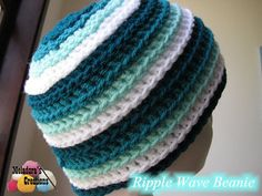 Your place to learn how to Make The Ripple Wave Beanie for FREE. by Meladora's Creations - Free Crochet Patterns and Video Tutorials