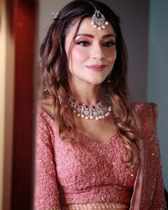 This Bride's Rouge Pink Engagement Look Will Leave You Amazed! Indian Wedding Gowns, Party Wear Indian Dresses, Designer Party Wear Dresses, Indian Gowns Dresses, Indian Bridal Outfits, Indian Bridal Fashion, Indian Designer Outfits, Wedding Dresses, Engagement Outfits