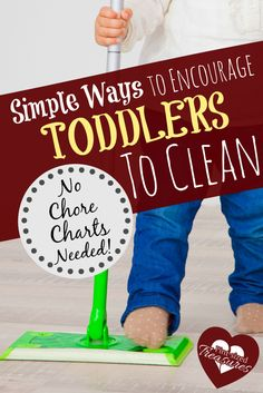 Can toddlers help out around the house? You bet! Here are some simple ways to encourage your toddler to clean. no chore charts or reward systems needed! @alicanwrite