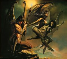 The Harpies are Greek bird-women who delight in thievery and spreading pestilence and famine over the land.