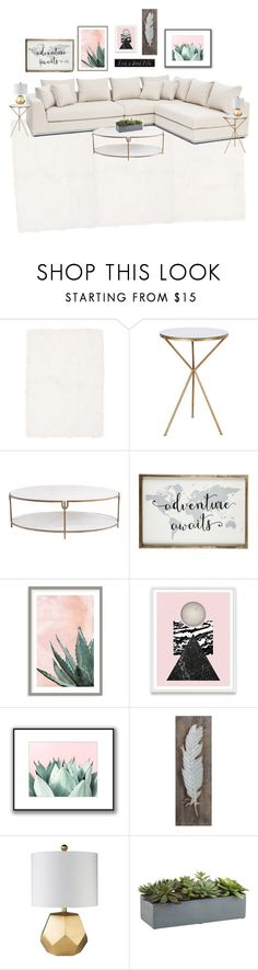 """""""Untitled #133"""" by mmd32 ❤ liked on Polyvore featuring interior, interiors, interior design, home, home decor, interior decorating, Calvin Klein, Global Views, Art Addiction and 3R Studios"""