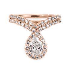 Pear shaped diamond engagement bliss ring by SillyShinyDiamonds