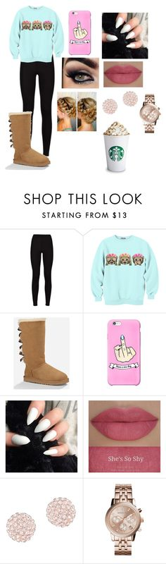 """""""fall and winter"""" by amarianamichelle ❤ liked on Polyvore featuring UGG Australia, She's So, Swarovski, Michael Kors, excited, uggaustralia and fallwinter2015"""