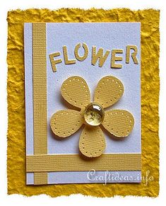 ATC Craft - Flower Artist Trading Card with Yellow Flower Motif