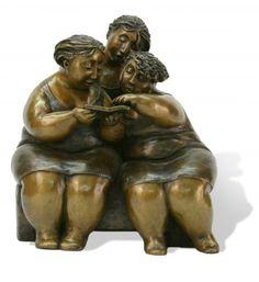 """""""Les Liseuses"""", bronze #sculpture by #artist Rose-Aimée Bélanger.. Only available at #Galerie Saint-Dizier!"""