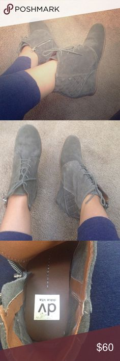 DV by Dolce Vita booties Size 7. Gray booties with side zipper. New and beautiful. Dolce Vita Shoes Wedges