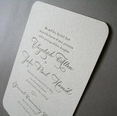 Elizabeth + John's Classic Calligraphy Wedding Invitations | Design & Photo: Arboreal | Calligraphy by Barbara