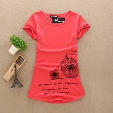 Nuevas mujeres del verano cortas letras impresas de marca informal camiseta  camisetas tops mujer algodón puro 8d79888d92e2d