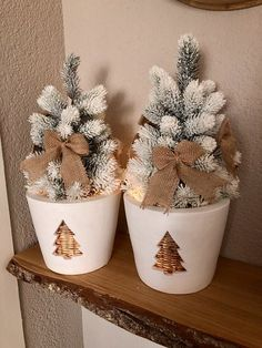 Planter Pots, Merry Christmas, Diy, Home Decor, Winter, Yule, Amor, Do It Yourself, Decoration Home