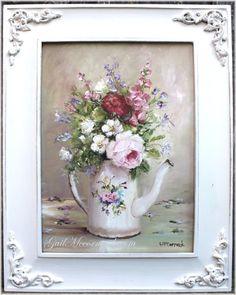 Flowers in a Enamel Coffee Pot by Gail McCormack. (Oils on a board 15in x 19.5in Sold $165 Australian)