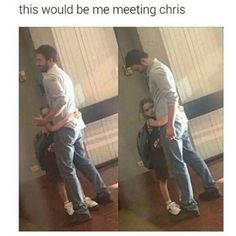 Meeting Chris Evans this is wonderful lol