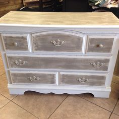 """""""LePutty"""" with """"muddy waters"""" dry brushed #junkpaint #dirtywax #shabbychic #paintedfurniture #cute"""