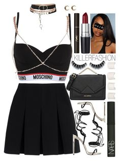 """Moschino Pt.11"" by killerfashion ❤ liked on Polyvore featuring Moschino, Alexander Wang, Yves Saint Laurent, M.A.C, Karl Lagerfeld, LowLuv, NARS Cosmetics and Maison Margiela"