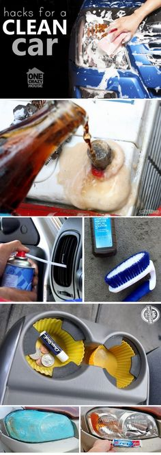 Hacks, tricks, tips and ideas to make your car spotless with the least amount of effort.  My kind of cleaning post!