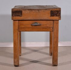 antique french butcher block table island - Butcher Blocks
