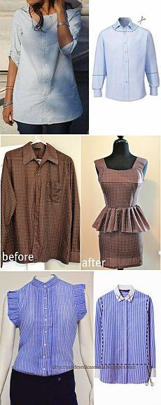 Alteration of the men's shirt. MANY IDEAS! / Other Handicraft / Other crafts