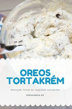 Oreos tortakrém receptem, mennyei ésropogós Macaron Flavors, Macaron Recipe, Vanilla Macarons, Relleno, Cooking Tips, Fondant, Oatmeal, Tasty, Sweets