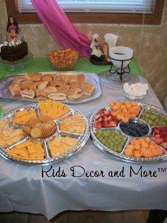 spa birthday party tween girl teen food table                                                                                                                                                                                 More