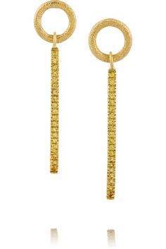 Carolina Bucci18-karat gold sapphire earrings