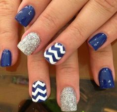 Chevron nail art designs have evolved into big nail trends these days. More and more ladies would want a chevron nail art, which really rock and can be worn Fancy Nails, Love Nails, My Nails, Trendy Nails, Classy Nails, Fabulous Nails, Gorgeous Nails, Amazing Nails, Perfect Nails