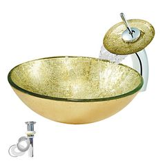 schönes Design Rund Glas Waschbecken Set mit Mischarmatur mit niedrigem Preis kaufen