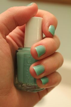 essie turquoise & caicos. This is will the theme color, and color of the bridesmaids dresses.