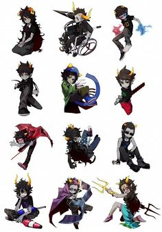 All the HomeStuck trolls