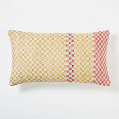 Dobby Dot Pillow Cover - Horseradish | west elm